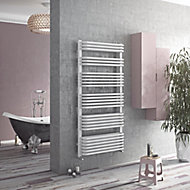 Ximax K2-Duo Vertical Designer towel radiator White (H)870 mm (W)532 mm