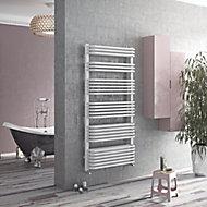 Ximax K2-Duo Vertical Designer towel radiator White (H)870 mm (W)532 mm