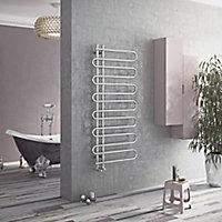 Ximax C8 354W Chrome Towel warmer (H)1400mm (W)600mm