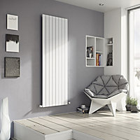 Ximax Vertirad Horizontal or vertical Designer Radiator, White (W)295mm (H)1800mm