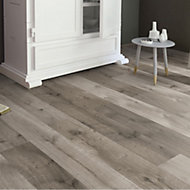 Masterfloor Uptown Grey Oak effect Laminate flooring, 1.76m² Pack