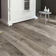 Masterfloor Uptown Grey Oak effect Laminate flooring, 1.76m² Pack