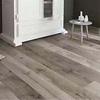 Uptown Grey Oak effect Laminate flooring, 1.76m² Pack