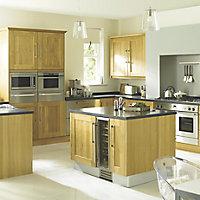 Cooke & Lewis Chesterton Solid Oak Glazed Cabinet door (W)300mm