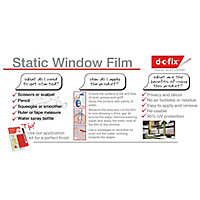 D-C-Fix Milky Matt White Self-adhesive film (L)2.1m (W)900mm