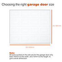 Virginia Retractable Garage door, (H)1981mm (W)2438mm