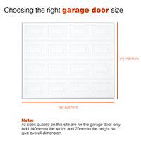Georgian Sectional Garage door, (H)1981mm (W)4267mm