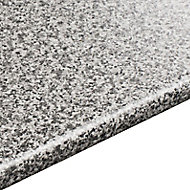 28mm Inari Grey Granite effect Laminate Round edge Kitchen Worktop, (L)3050mm