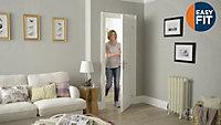 Easy fit 6 panel Pre-painted White Adjustable Internal Door & frame set, (H)1988mm-1996mm (W)759.00mm-771.00mm