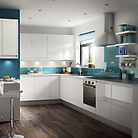 IT Kitchens Marletti Gloss White Standard Cabinet door (W)500mm