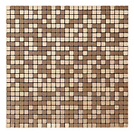 Abu dhabi Brushed bronze effect Metal Mosaic tile sheets, (L)290mm (W)290mm