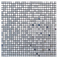 Abu dhabi Brushed metal Metal Mosaic tile, (L)300mm (W)300mm