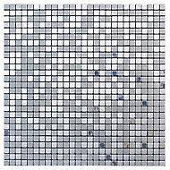 Abu dhabi Brushed Metal Mosaic tile sheet, (L)300mm (W)300mm