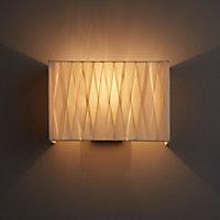 Acasia Matt Ivory Paint effect Wall light
