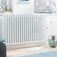 Acova 2 Column Radiator, White (W)1410mm (H)600mm