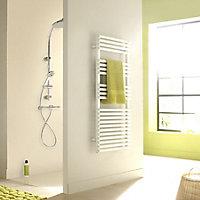 Acova Cala 880W Electric White Towel warmer (H)1681mm (W)500mm
