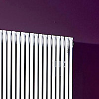 Acova Striane Vertical Designer Radiator, White (W)399mm (H)2000mm