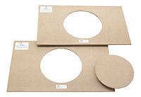 Acrylic & chipboard For all solid kitchen worktops Jig (L)1000mm (W)1000mm (T)12mm