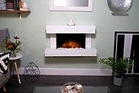 Adam Manola White Electric LED electric fire suite