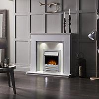 Adam Morella Sparkly white & sparkly grey Fire surround