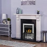 Adam Victoria Ariston white & black granite Fire surround