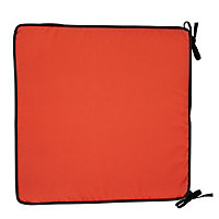 Adelaide Black & red High back seat cushion, Pack of 4