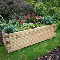 Agen Wooden Rectangular Planter 100cm