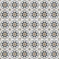 Agran Multicolour Matt Patterned Ceramic Wall & floor Tile, Pack of 11, (L)300mm (W)300mm