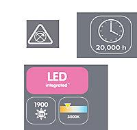 Alani Chrome effect 3 Lamp Ceiling light