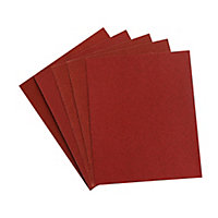 Aluminium oxide Assorted Hand sanding sheets, Pack of 5