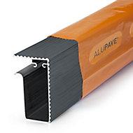 Alupave Grey Flat roof & decking Side trim (L)3m