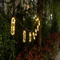 Alvares Bottle Solar-powered Warm white 10 LED Outdoor String lights