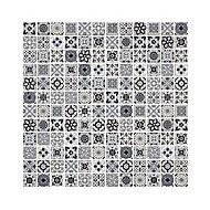 Amaranta Black & white Stone effect Natural stone Mosaic tile sheet, (L)300mm (W)300mm