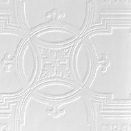 Anaglypta Luxury Early victorian White Blown Wallpaper