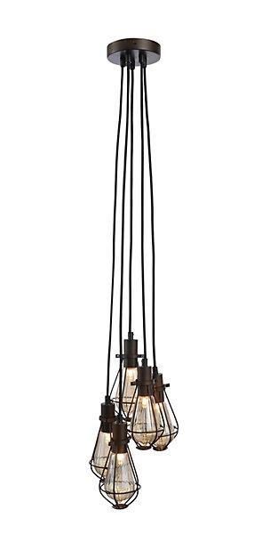 Ananes Black Bronze Effect 5 Lamp Ceiling Light Diy At B Q