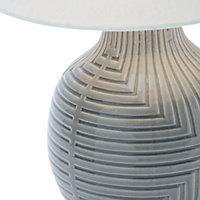 Ananke Embossed ceramic Grey Table light
