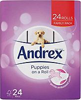 Andrex White Toilet roll, Pack of 24
