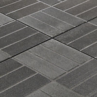 Angara Grey Composite Clippable deck tile (L)0.4m (W)400mm (T)45mm