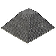 Angara Grey Composite Deck tile corner (L)0.2m (W)200mm (T)45mm