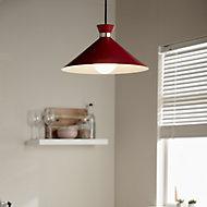 Apennin Matt Red Pendant ceiling light, (Dia)350mm