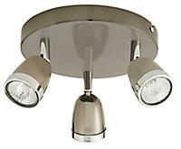 Apheliotes Black Chrome effect Mains-powered 3 lamp Spotlight