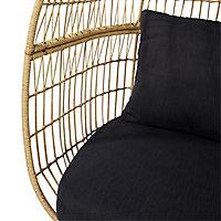 Apolima Brown Rattan effect Egg Chair