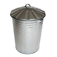 Apollo Galvanised Outdoor litter bin, 90L