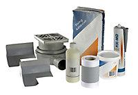 Aquadry Centre drain Shower tray kit (L)1800mm (W)900mm