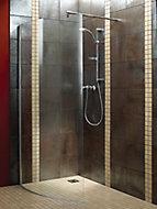 Aquadry Curved Bath screen, (W)1050mm