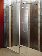 Aquadry L-shaped Bath screen, (W)1200mm