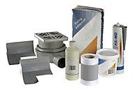 Aquadry Rectangular Shower tray kit (L)900mm (W)900mm (D)30mm