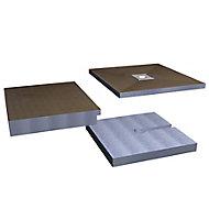 Aquadry Wetzone Shower tray kit (L)1850mm (W)750mm