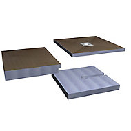 Aquadry Wetzone Shower tray kit (L)1850mm (W)900mm (H)150mm