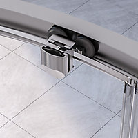 Aqualux Edge 6 Quad Offset quadrant Clear glass Shower Shower enclosure with Corner entry double sliding door (W)800mm (D)1000mm